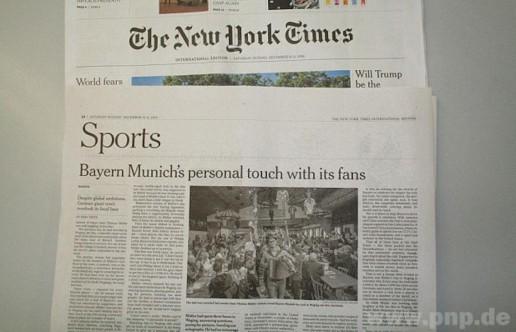 """""""New York Times"""" auf Tuchfühlung"""